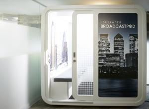 broadcastpod, studio in a box, mobile studio solution, tv studio, broadcast studio