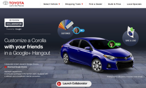 Google Hangout, online configurator