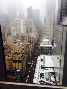 Dreamtek New York office view, video production, mobile app development, Google Hangouts, TV Studio build